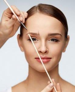 measuring permanent eyebrows