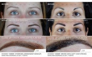ombre tattoo eyebrows