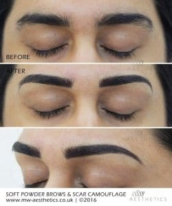 semi permanent eyebrows