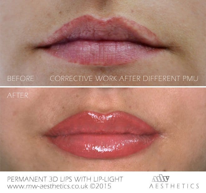permanent makeup lips tattoo