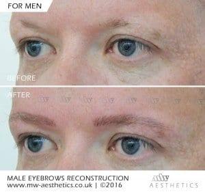 eyebrow tattoo for men