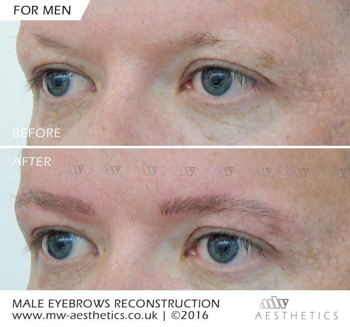 eyebrow tattoo for men