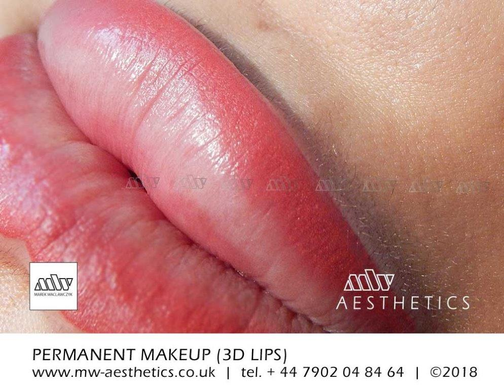 permanent lips tattoo